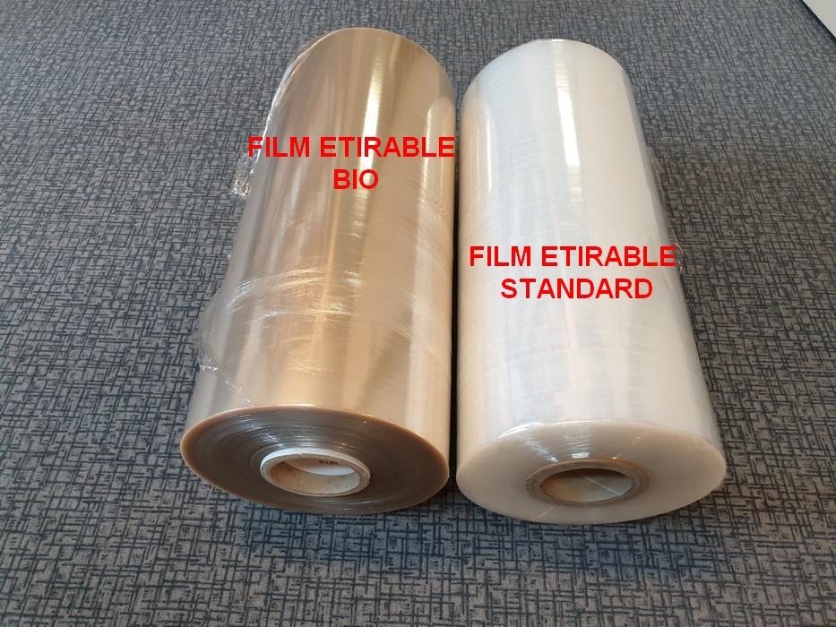 Comparaison film étirable bio et film standard